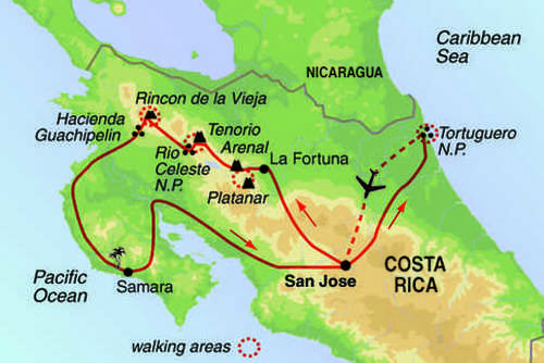 Costa Rica Coast to Coast Cycling Tour