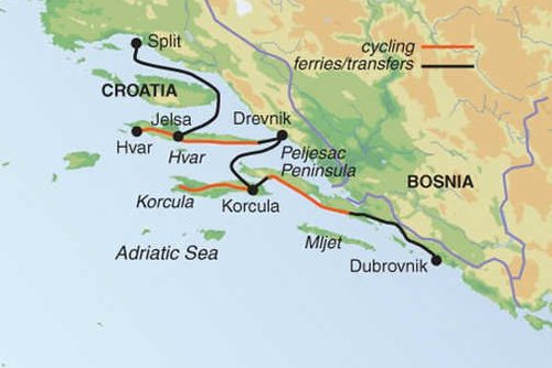 Croatia Dalmatian Coast Cycling Tour