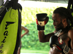 Muay Thai Training with Pro Fighters