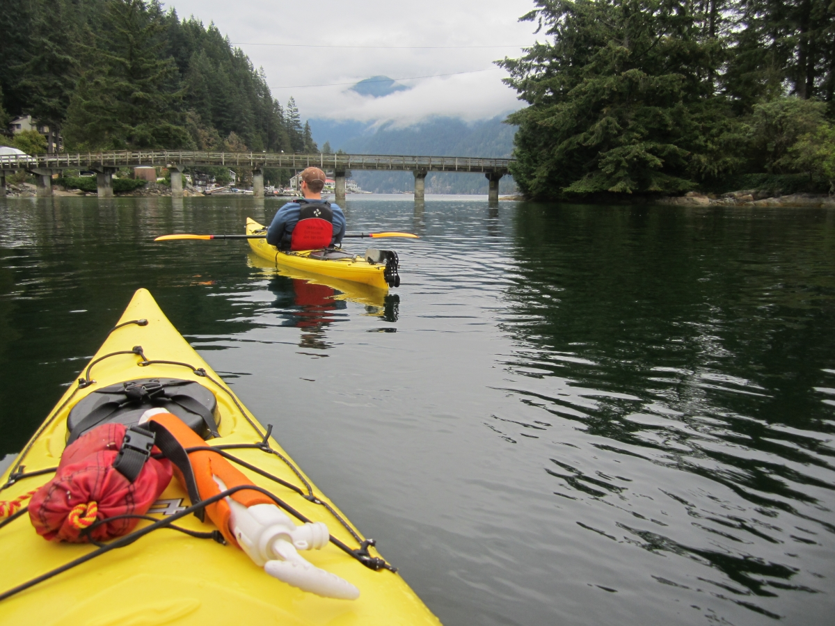 Kayaking Deep Cove