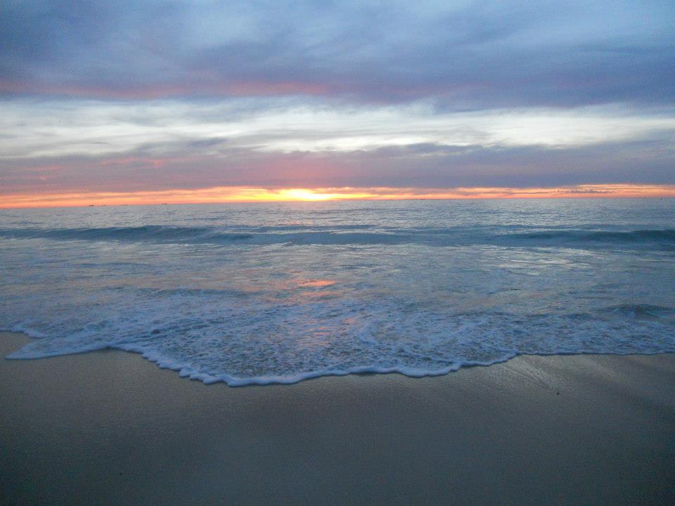 Sunset Cottlesloe beach in Perth