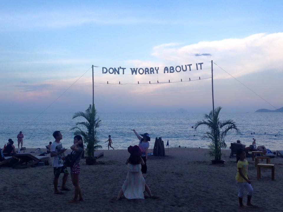 Beach sign - Don't worry about it