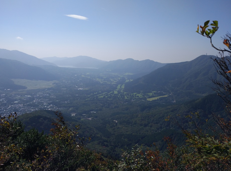 View from the top of Mt Kintoki in Hakone, Japan