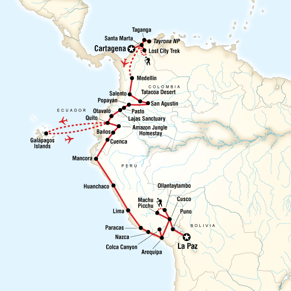 Colombia, Andes & Galapagos