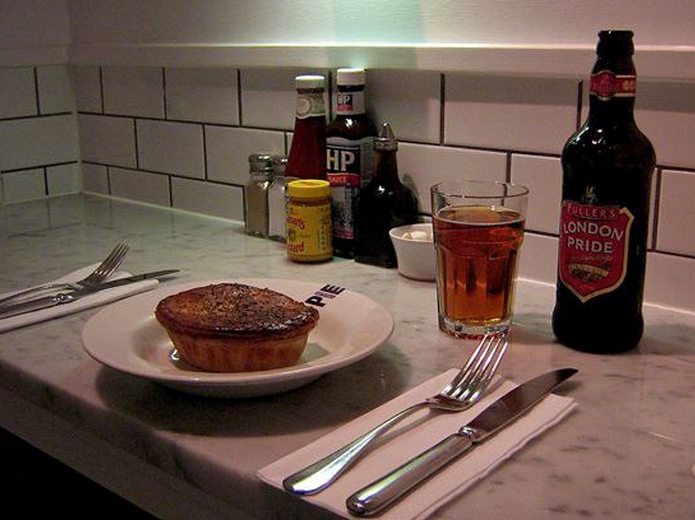 Best Places to Eat Out in London on a Budget - Battersea Pie Station