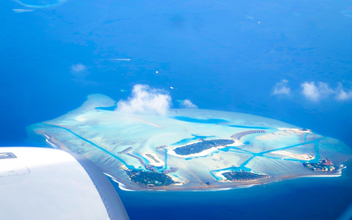 Maldives from the sky