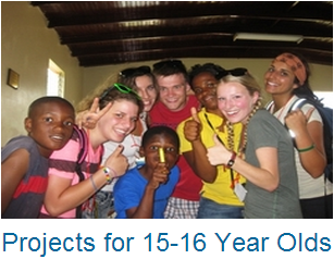 Volunteer Abroad Projects for 15 and 16 Year Olds